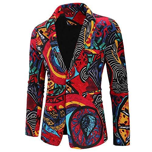 MAYOGO Jacke Männer Vintage Anzug Sakko Eine Taste, Anzuege Herren Slim fit 2018 Mode Retro Winter Sale Jacke Mantel Overcoat Outwear - Roten Anzug Jacke Kostüm