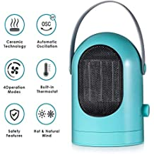 Air Cooler Calentador De Ventilador Eléctrico Portátil, Calentamiento Rápido De Bajo Consumo En 3 Segundos