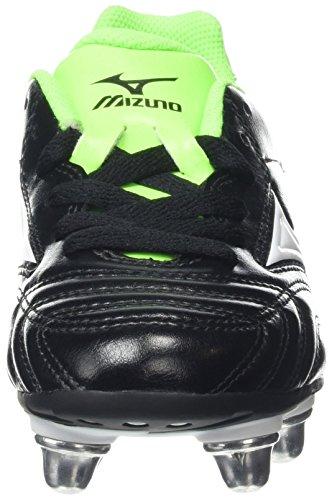 MizunoWaitangi Jr - Rugby Unisex per bambini Nero (Black/White/Green Gecko)