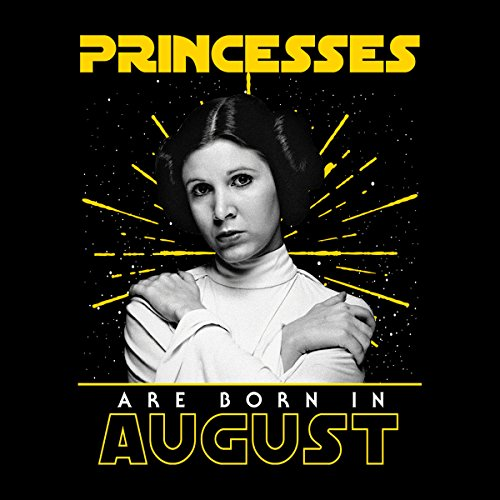 Star Wars Leia Princesses Are Born In August Women's Hooded Sweatshirt Black
