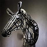 GAL Exquisite Retro Handgeschmiedete Eisen Wandbehänge Wandmalereien Pferd Ornamente Industrie-Stil...