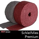2 Meter Schleifvlies Schleifflies Premium rot Rolle Schleifen Polieren, extra fein P400 / Lackierzubehör Wassertransferdruck Water transfer printing Hydrographics