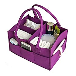 Baby Diaper Organiser Bag, VANCORE Felt Nursery Storage Bag Diaper Caddy, Toy Storage Bin, Great Mommy Helper