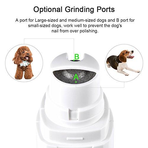 Petacc Nagelschleifer für Hund Funktions Haustier Nagel Schleifer Praktischer Haustier Nagel Trimmer Stummel Haustierpfleger Clipper mit USB Aufladeeinheit, verwendbar für Hunde und Katzen - 5