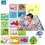 Gison Double Sided Water Proof Baby Mat Carpet Baby Crawl Play Mat Kids Infant Crawling Play Mat Carpet Baby Gym Water Resistant Baby Play & Crawl Mat,Set Of 1(Color And Design May Vary)