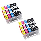 10 Druckerpatronen mit Chip kompatibel zu Canon PGI-570 CLI-571 für Canon Pixma MG-5700 MG-5750 MG-5751 MG-5752 MG-5753 MG-6850 MG-6851 MG-6852 MG-7750 MG-7751 TS-5000 TS-5050 TS-5051 TS-5053 TS-5055