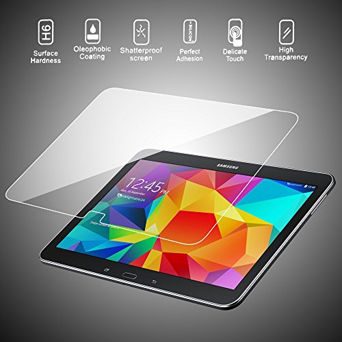 Image of delightable24 Premium Tempered Glass Screen Protector SAMSUNG GALAXY TAB 4 10.1 Tablet - Crystal Clear