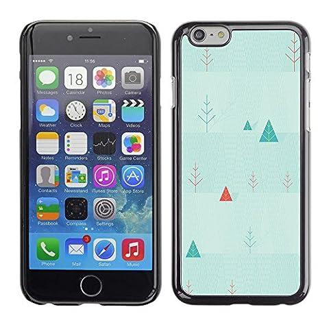Qstar Kunst & Design Hartplastik Handy-Schutzhülle Schale Hülle Case Cover für Apple iPhone 6(4.7 inches) ( Triangle Picea Christmas Tree Wallpaper