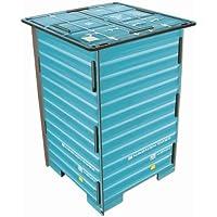Werkhaus - Photo-Hocker in Container-Optik, tuerkis, 42x29,5x29,5cm (CO1043) preisvergleich bei kinderzimmerdekopreise.eu