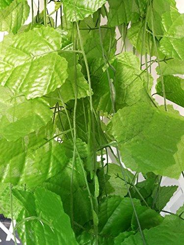 Trauben-wand-dekoration (shinybeauty 96ft–12Künstliche Ivy Leaf Sichtschutz Zaun Fake Reben mit Trauben für Hochzeit Party Garten Wand Dekoration)