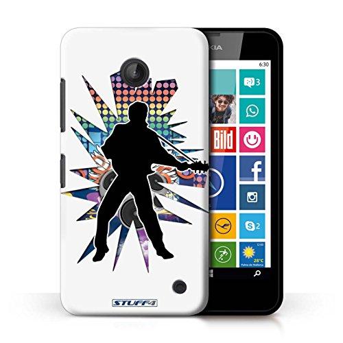 Kobalt® Imprimé Etui / Coque pour Nokia Lumia 635 / Saut Blanc conception / Série Rock Star Pose Elvis Blanc