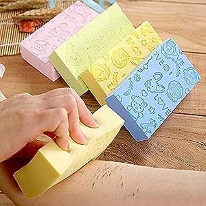 Ultra Soft Exfoliating Sponge | Asian Bath Sponge For Shower | Japanese Spa Cellulite Massager | Dead Skin Remover Sponge For Body | Face Scrubber for Women and Men