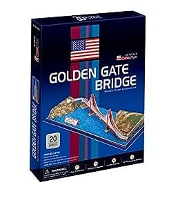 Puzzle 20 pièces - Puzzle 3D - Etats-Unis, San Francisco : Golden Gate Bridge