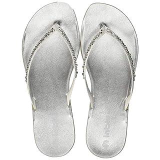 INBLU Women's Minorca Flip Flops, (Bianco 001), 2.5