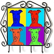 Galgo italiano, Suspensión de ropa con una imagen de un perro, estilo de Andy Warhol