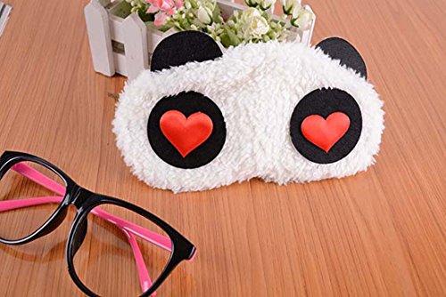 Lovely Cartoon Panda Fluff Augenmaske / Schlaf Maske Interessante Schlafmasken für Männer & Frauen mit 100% Licht blockiert Bequeme weiche und atmungsaktiv verbessern Schlafqualität Ein Satz von 2 ( Size : Set of 2 )