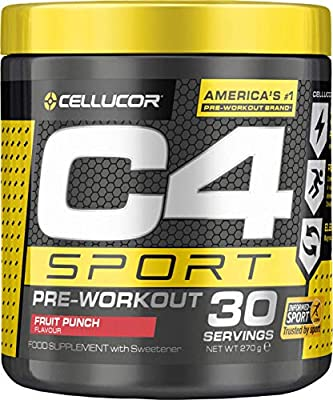 Cellucor C4 Sport Pre Workout Powder, Sports Hydration & Energy Supplement from Nutrabolt