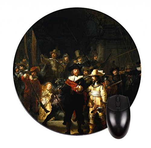 rembrandt-van-rijn-the-night-watch-8-round-mouse-pad-mouse-mat
