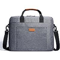 KALIDI 14 Zoll Laptoptasche Aktentaschen Handtasche Tragetasche Schulter Tasche Notebooktasche Laptop Sleeve Laptop hülle für bis zu 14.4 Zoll Laptop Dell Alienware/MacBook / Lenovo/HP (Grau)