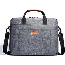 KALIDI 15 zoll laptoptasche Aktentaschen Handtasche Tragetasche Schulter tasche notebooktasche Laptop sleeve laptop hülle für bis zu 15.6 zoll Laptop Dell Alienware / Macbook / Lenovo / HP (Grau)