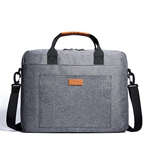 KALIDI 15 zoll laptoptasche Aktentaschen Handtasche Tragetasche Schulter tasche notebooktasche Laptop sleeve laptop hülle für bis zu 15.6 zoll Laptop Dell Alienware / Macbook / Lenovo / HP (Grau) (Notebook-handtasche)