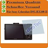 2x Sony Cybershot DSC-RX100 II ENTSPIEGELNDE Displayschutzfolie Bildschirmschutzfolie von 4ProTec - Nahezu blendfreie Antireflexfolie