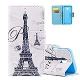 Coque Samsung Galaxy J3 Pro (2017) Blanc, Aeeque® Paris Tour Eiffel Motif...
