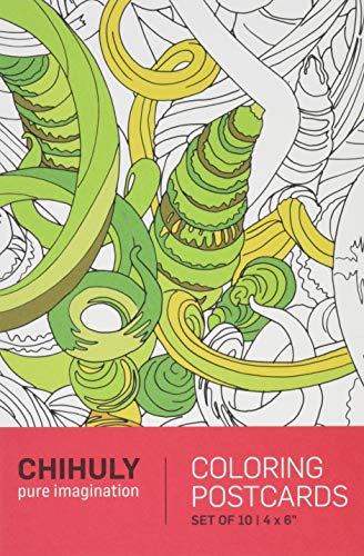 Chihuly Pure Imagination Coloring Postcards (Dale Chihuly Glas)