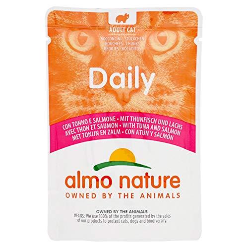 almo nature Daily Cat Food con tonno e Salmone, 70g, Confezione da 30