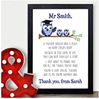 Best Teacher Gift - Thank You Gift for Teacher Personalised Poem Presents - Thank You Gifts for Teachers, Teaching Assistants, TA, Nursery Teachers - ANY RECIPIENT from ANY NAME - A5, A4, A3 Prints and Frames - 18mm Wooden Blocks - FREE Personalisation