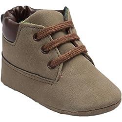 Koly_Scarpe in pelle molle del bambino Sole Bambino sveglio Shoes (Size:11=Age:0~6M, Marrone)