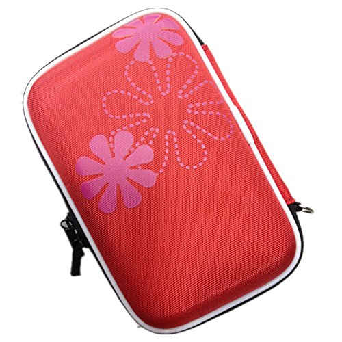 Utile Organizer Per Cavi Hard Disk Chiavette USB, Custodia Da Viaggio Porta Accessori Elettronici, Borsa Impermeabile Tasche Fascette Elastiche Rosso