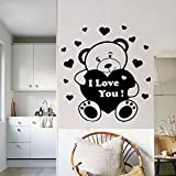 Bear animal wall sticker for kids room background self-adhesive wall decal vinyl sticker58X62cm