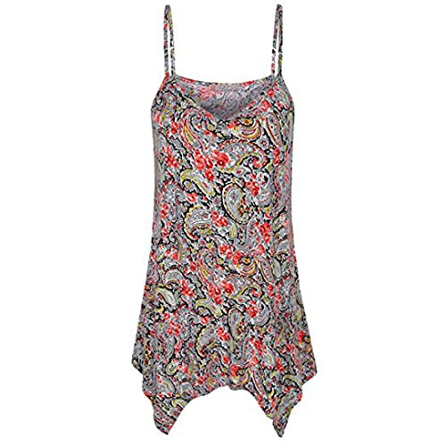 Tops Fashion Damen Sommer Casual Bluse ärmellose Spitze Geraffte Tank Bluse T-Shirt von SANFASHION