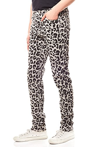 07dc4b5e98028f Sweet SKTBS Skinny Colored Hose Herren Jeans Denim Grau Gemustert,  Größenauswahl:W30/L32