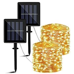 Guirnaldas Luces Exterior Solar, 14m
