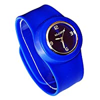 Slap On Snap On Silicon Silicone Rubber Sports Watch 2012 Fashion 11 Colours Available - Happy Bargains Ltd (Navy Blue)