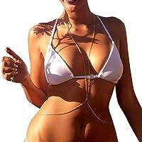 Mobestech Cadena de Vientre de Oro Bikini Cadena de Cuerpo Sexy Cadena de Vientre Infinity Mujer