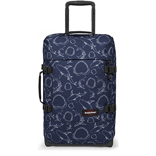 EASTPAK TRANVERZ WHEELED HOLDALL SMALL (SAILOR SHARKS)