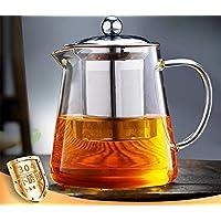 OBOR Tetera 450ml, Tetera con filtro de vidrio con infusor de acero inoxidable 304 para florecer y tetera de té de borosilicato de hojas sueltas