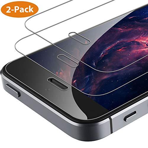 Syncwire Schutzfolie kompatibel mit iPhone SE 5S 5C 5, [2 Stück] HD 3D-Touch Panzerglasfolie 9H Härte 2.5D Displayschutzfolie Ultra-klar Panzerglas für iPhone 5S/5