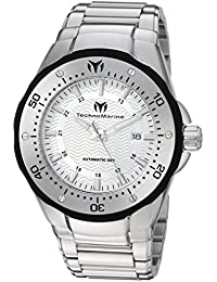 Technomarine Men's 'Sea Manta' Automatic Stainless Steel Casual Watch, Color:Silver-Toned (Model: TM-215093)