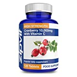 Cranberry Tablets 10000mg | 120 Tablets not Capsules | Vegetarian | Urinary Tract and Bladder Support | 4 Months Supply | Polyphenals
