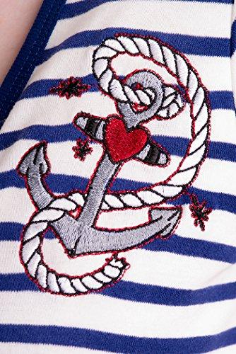 MARISSA ahoy sAILOR hell bunny bleu ancre 50s robe rockabilly Multicolore - Dunkelblau-Weiß gestreift