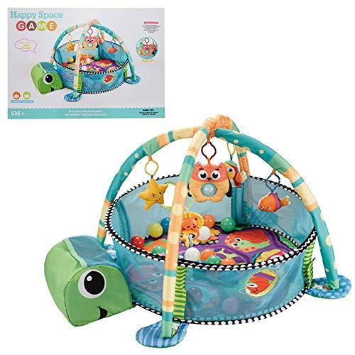 LULU Babyspielzeug Spielmatte Multifunktionaler Wasserballpool Fitness-Rack Marine Ball Zaun Kriechende Matte Baby Spielen Eltern-Kind-Interaktion 0-3 Jahre alt -
