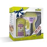 Geschenkeset bestehend aus 1 Stck.Furminator Katze S kurzhaar /1 Stck. Waterless Spray / 1 Stck. Handtuch