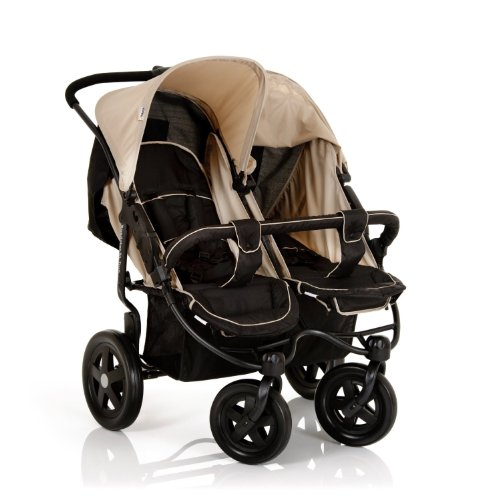 Hauck Roadster Duo Double Buggy – Caviar/Almond