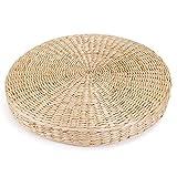 BZAHW 45cm Round Pouf Tatami Cushion Floor Cushions Natural Straw Stuoia di Meditazione Yoga