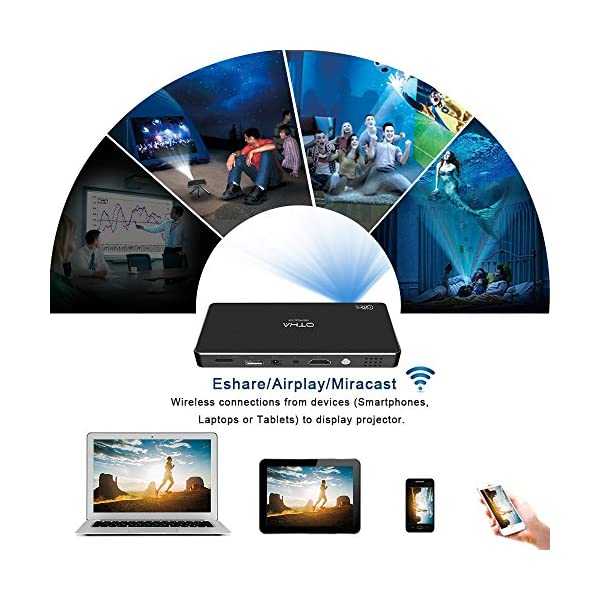 Videoprojecteur-OTHA-Mini-Projecteur-Android-LED-Portable-Videoprojecteur-sans-fil-Wifi-1080p-Home-Cinema-DLP-Full-HD-Bluetooth-Cinema-avec-Entre-HDMI-pour-iPhoneAndroidGaming-LaptopTV-Box