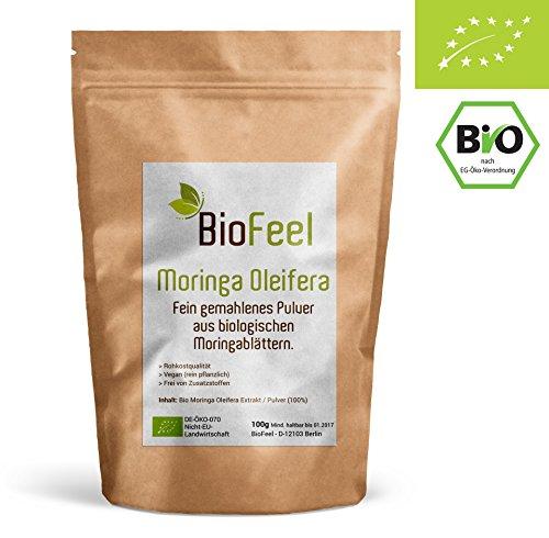 BioFeel - Moringa Pulver - 100g - Ayurveda - Spitzen Bioware
